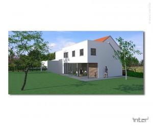 Etude pour l'extension d'une maison en brabant flamand.
