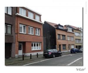 Etude pour une maison à Bruxelles. Situation existante. Terrain.