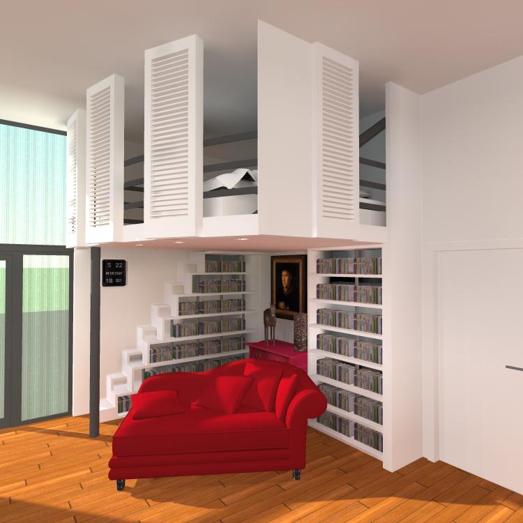 etude pour la cr ation d une mezzanine bruxelles saint gilles inter3. Black Bedroom Furniture Sets. Home Design Ideas