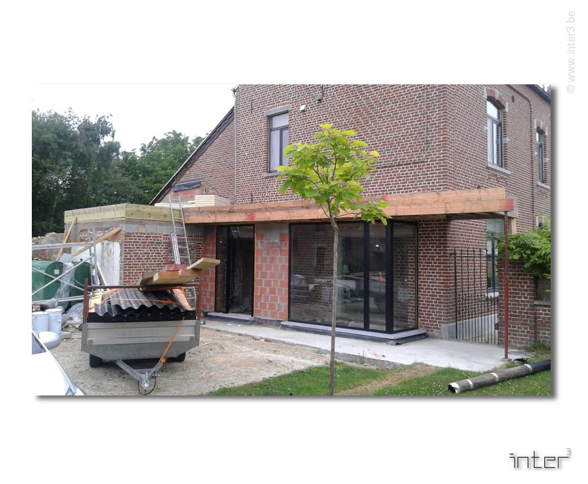 Extension d une maison en hainaut pont celles inter3 for Visualiser une maison