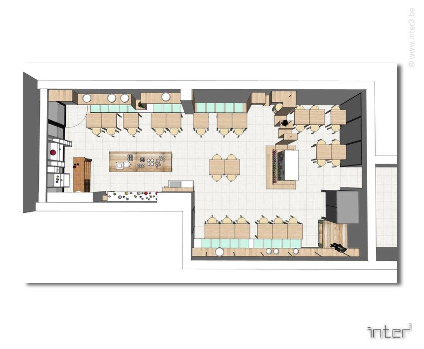 am nagement d un commerce atelier de c ramique salon de th inter3. Black Bedroom Furniture Sets. Home Design Ideas