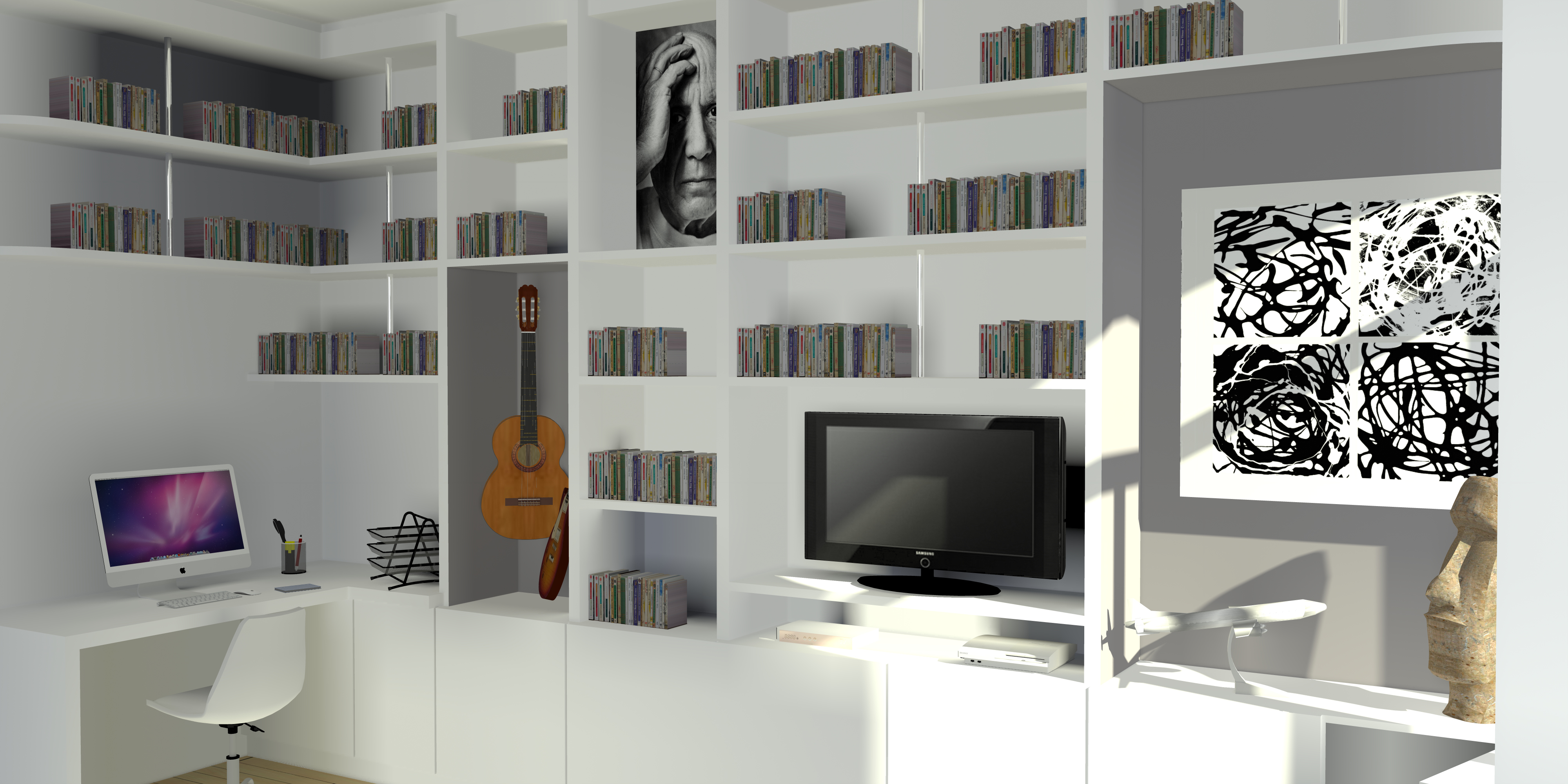 meuble mdf sur mesure dressing meuble de rangement et bibliothque spaceo home au meilleur prix. Black Bedroom Furniture Sets. Home Design Ideas